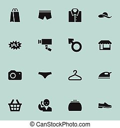 Set Of 16 Editable Trade Icons. Includes Symbols Such As...