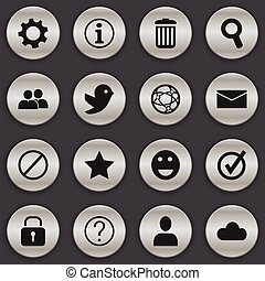 Set Of 16 Editable Web Icons. Includes Symbols Such As Quiz, Bookmark, Group And More. Can Be Used For Web, Mobile, UI And Infographic Design.