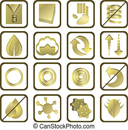 set of 16 mattress icons