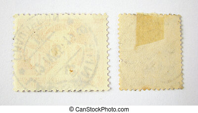 Set of 2 blank postage stamps