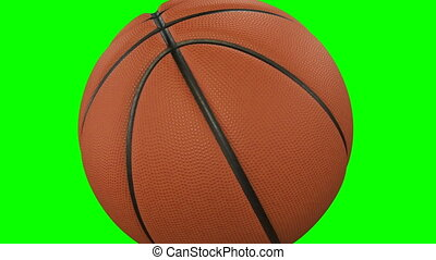 Set of 2 Videos. Beautiful Basketball Ball Hits the Camera...