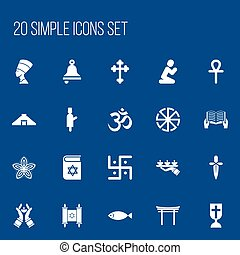 Set Of 20 Editable Dyne Icons. Includes Symbols Such As...