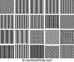 Set of 20 monochrome patterns