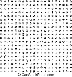 Set of 200 Universal Icons. Business, internet, web design.