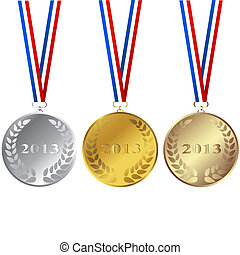 Set of 2013 medals