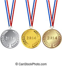 Set of 2014 medals