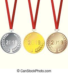 Set of 2019 medals