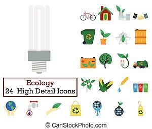 Set of 24 Ecology Icons