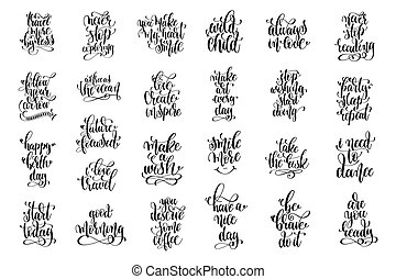 set of 25 black and white positive quote