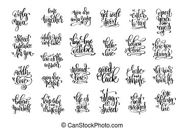 set of 25 hand lettering positive quote about love
