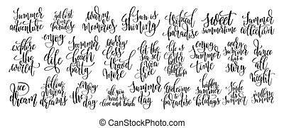 set of 25 handwritten lettering positive quote