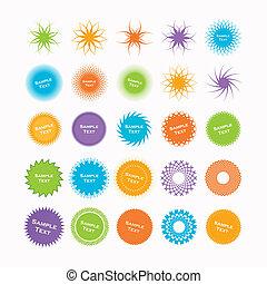 Starburst Shapes - Set of 25 Starburst Shapes