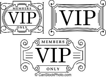 Set of 3 black and white VIP decors