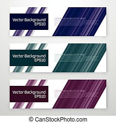 Set of 3 blue vector web banners