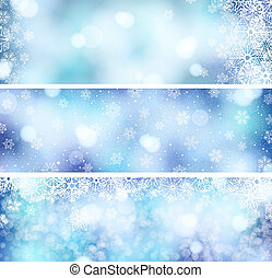 3 Christmas banners - set of 3 Christmas banners with...