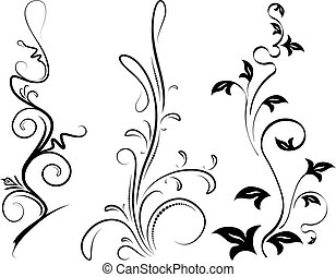 Set of 3 vector brunches.