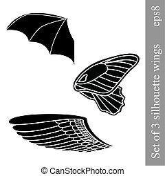 Set of 3 wings
