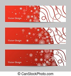 Set of 3 winter banners
