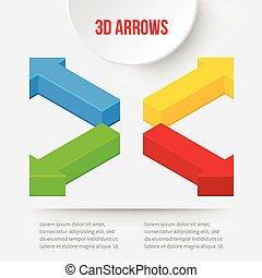 Set of 3D arrows
