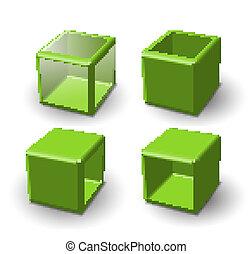 Set of 3d cube