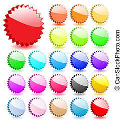 Set of 3D vector stars with shadows. Perfect for icons or adding text.