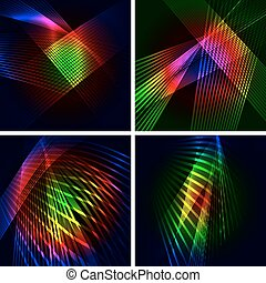 Set of 4 abstract vector backgrounds.