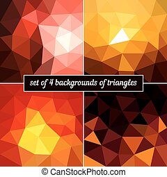 Set of 4 background triangles