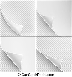 Set of 4 Blank Sheets paper. EPS 10