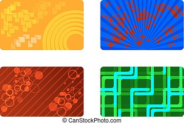 Set of 4 colored background ready for your text.