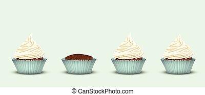 Set of 4 cupcakes
