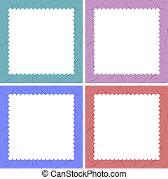 Set of 4 cute creative cards templates