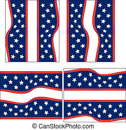 Set of 4 Fourth of July Backgrounds