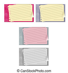 journals - set of 4 journals in vector format isolated on...