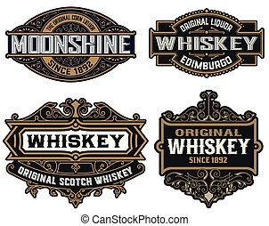 Set of 4 Logos or badges for packing