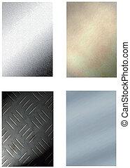 set of 4 metal backgrounds