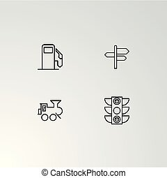 Set of 4 perfect icons for navigation.