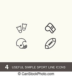 Set of 4 perfect icons for sport.