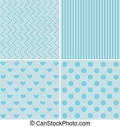 Set of 4 retro background patterns