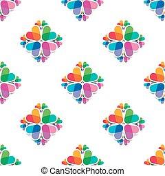 Set of 4 seamless patterns