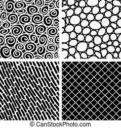 Set of 4 seamless tiles