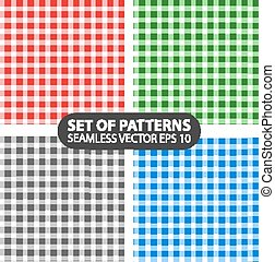 seamless patterns - Set of 4 vector abstract seamless...