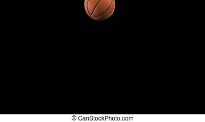 Set of 4 Videos. Beautiful Basketball Ball Throws in Slow...