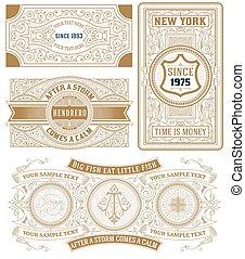 Set of 4 vintage cards