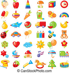 pictures for children - Set of 42 bright colorful pictures...