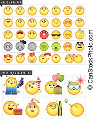 Set of 42 emoticons