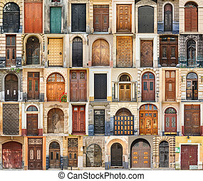 Set of 45 old doors and gates from Lvov, Ukraine. Examples...