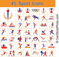 Set of 45 sport icons - Set of 45 Olympic summer games icons