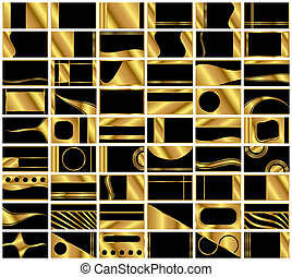 Set of 54 Very Elegant Business Card Backgrounds - A...