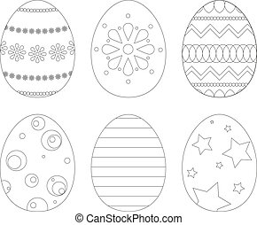 Set of 6 Easter eggs