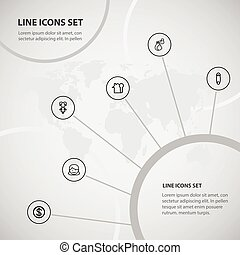 Set Of 6 Editable Kin Icons. Includes Symbols Such As Mother, Greenback, Fasten And More. Can Be Used For Web, Mobile, UI And Infographic Design.